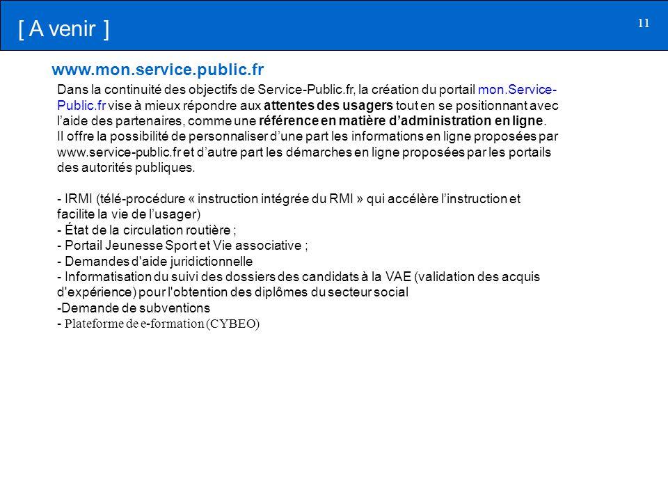[ A venir ] www.mon.service.public.fr